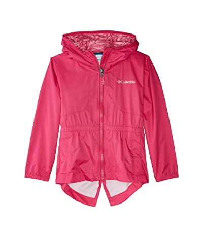 Columbia Kids Dolliatm Rain Jacket (Little Kids/Big Kids) (Haute Pink/Haute Pink/Palms Print) Girl