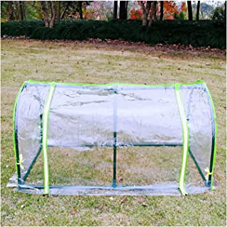 Small Greenhouse Seed Plants Insulation Cover Outdoor Removable Rain Shelter Anti-UV, 2 Colors, 2 Styles (Color : Clear, S...