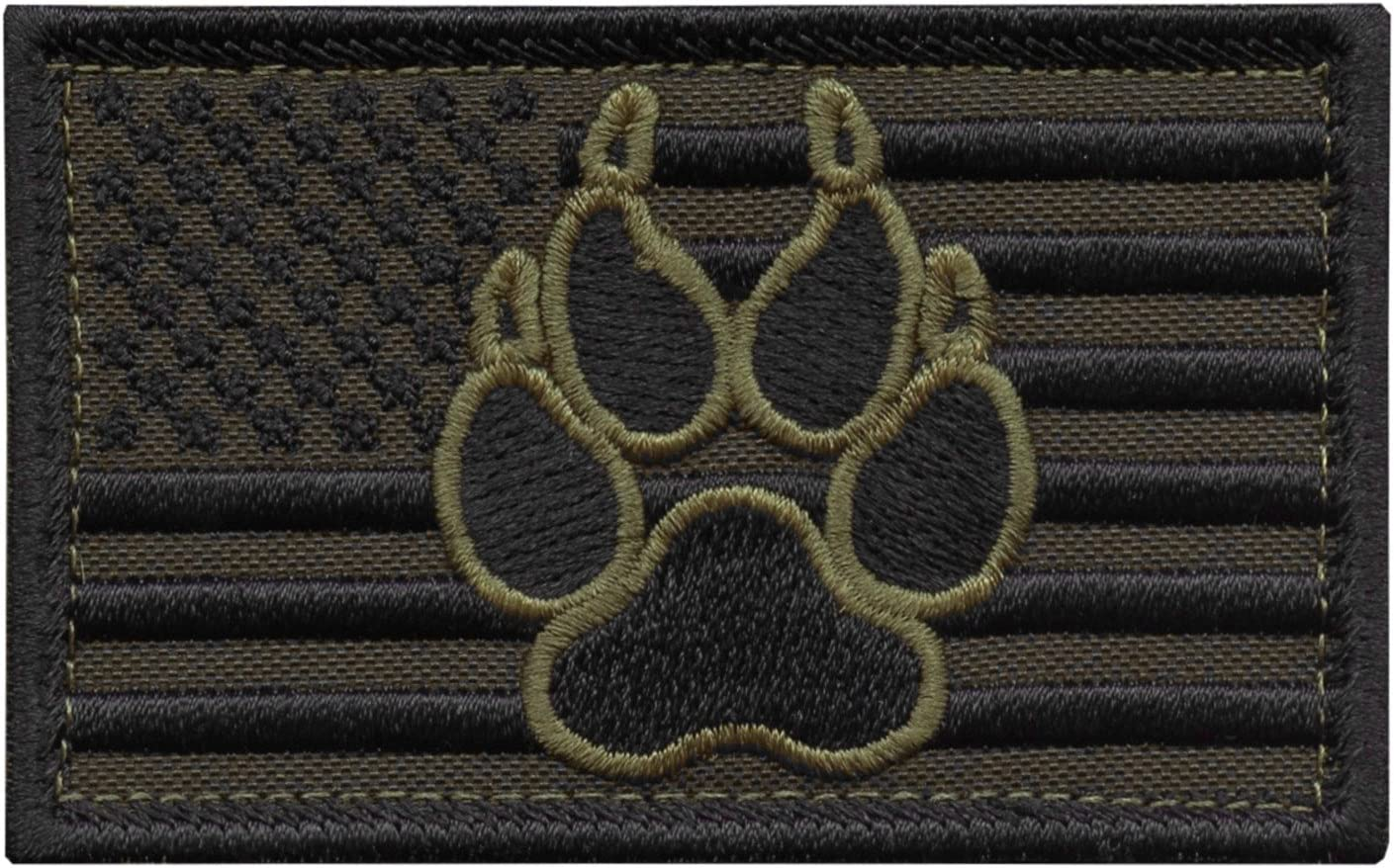 LEGEEON OD Green USA American Flag K-9 Tactic Direct store Dog shopping Morale Handler