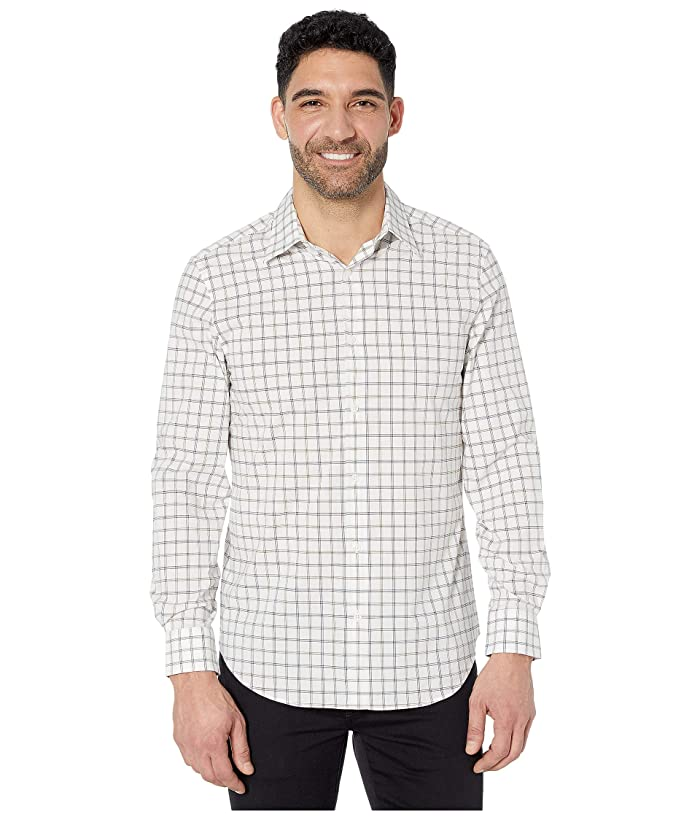 Perry Ellis  Regular Fit Stretch Check Shirt (Bronze Brown) Mens Clothing