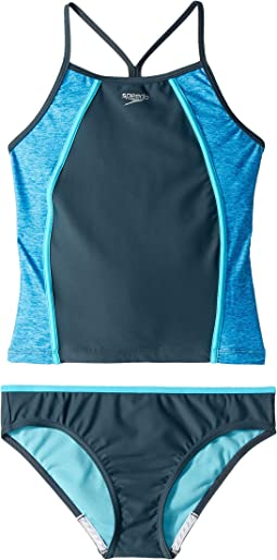 Heather Splice Tankini Two-Piece (Big Kids)