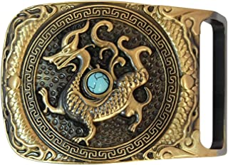 Copper Belt Buckle for Men, Chinese Style Pattern