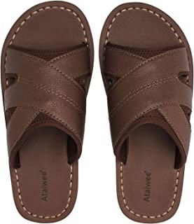 Sponsored Ad - Ataiwee Men's Slide Sandals - Summer Slipper Shoes for Indoor & Outdoor Use.