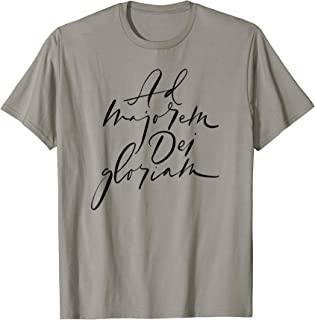 Ad Majorem Dei Gloriam - Jesuit Latin Motto Shirt Black
