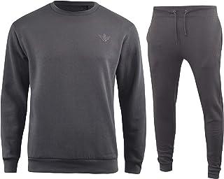 kandor Mens Full Tracksuits Jogging Bottoms Gym Crew Sweatshirt Jumper and Activewear Pants