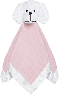 Aden and Anais Lovely Reverie Mini Hearts Musy Mate Lovey, Pink, White
