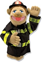 Melissa & Doug Firefighter Puppet with Detachable Wooden Rod (Puppets & Puppet Theaters, Animated Gestures, Inspires Creativity, Great Gift for Girls and Boys - Best for 3, 4, 5 Year Olds and Up)
