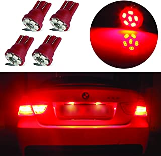 LED Monster 4x Red LED Bulbs 6-SMD Car License Plate Lamp...