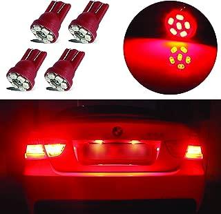LED Monster 4x Red LED Bulbs 6-SMD Car License Plate Lamp...