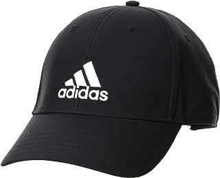 قبعة أديداس للجنسين BBALLCAP LT EMB، أسود/أسود/أبيض، OSFW