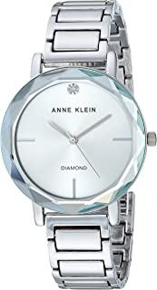 Anne Klein Women's AK/3278 Diamond-Accented Bracelet Watch