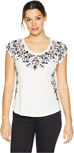 Floral Garden Embroidered Tee