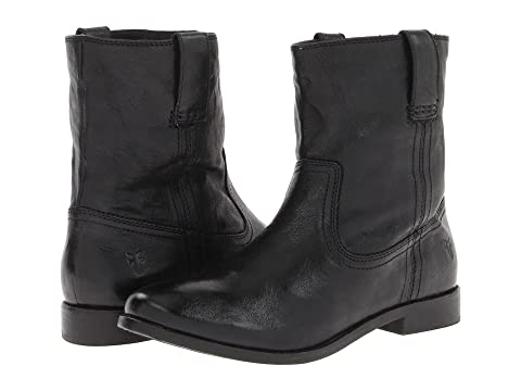 Frye Womens Black Boots Anna Shortie Antique