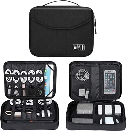 Electronics Bag, Jelly Comb Electronic Accessories Travel Cable Organizer Waterproof Cord Storage Bag for Cables, iPa...