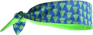 MSQUARE FITNESSWEAR Sports Headbands (Green Lacrosse)
