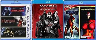 Marvel Comics 6-Movie Bundle - X-Men: Days of Future Past - The Rogue Cut, Daredevil (Director's Cut), Elektra, League of Extraordinary Gentlemen, Marvel Knights Iron Man Extremis and Spider-Woman Blu