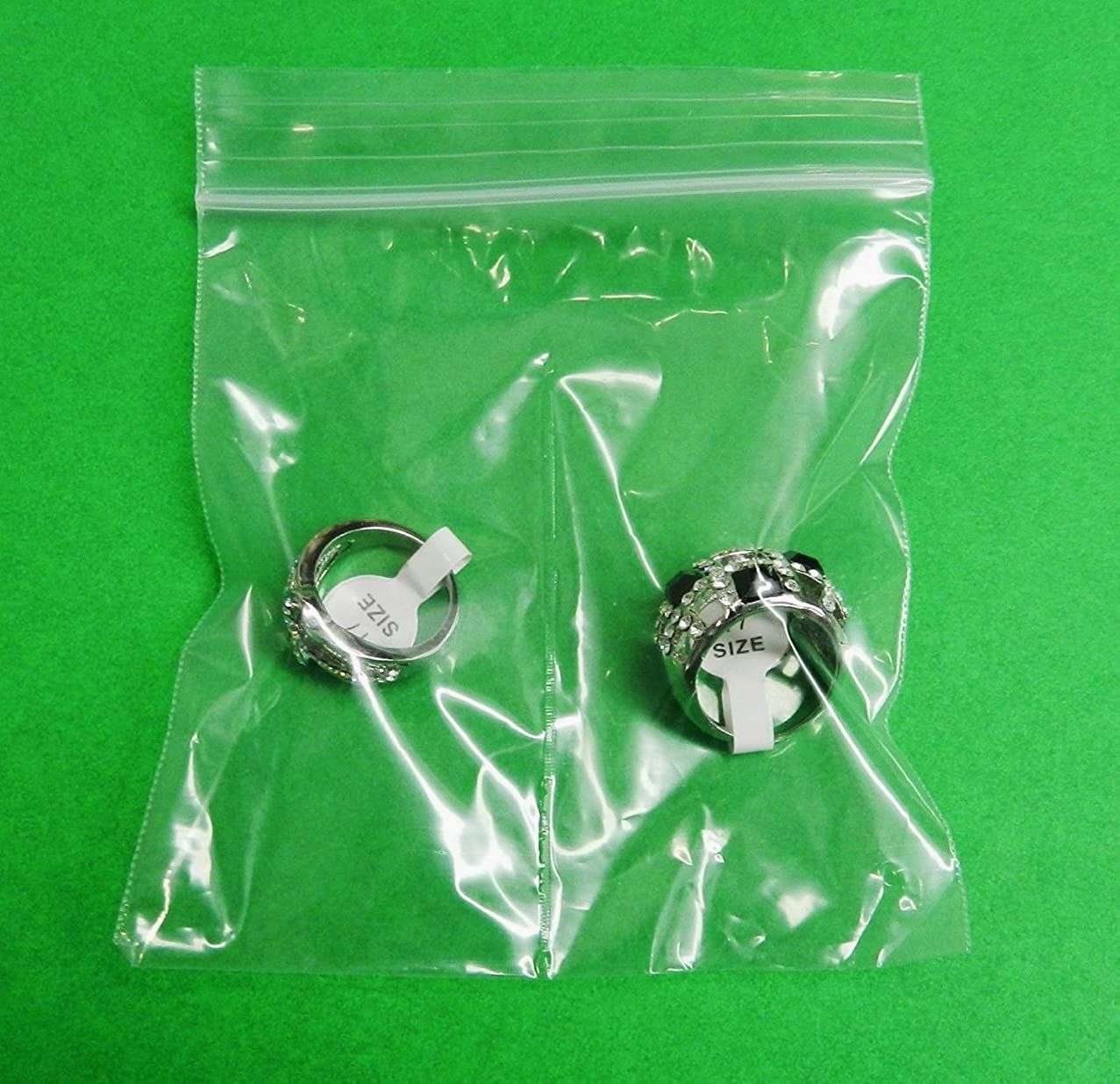 4x4 Zip lock Bags 2-Compartment Clear With Center Split Divider Middle 4