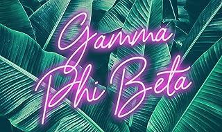 Gamma Phi Beta - Sorority Letter Flag (Neon Design)