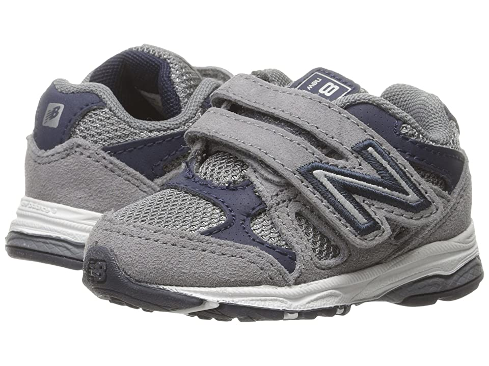 New Balance Kids KV888v1 (Infant/Toddler) (Grey/Navy) Boys Shoes