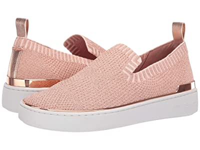 MICHAEL Michael Kors Skyler Slip-On (Rose Gold Metallic Knit/Metallic Nappa) Women