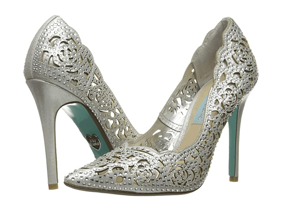 Blue by Betsey Johnson Elsa (Silver Fabric) High Heels