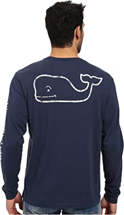 Long Sleeve Vintage Whale Pocket Tee