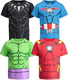 Marvel Avengers Boys 4 Pack T-Shirts Black Panther Hulk Iron Man Captain America