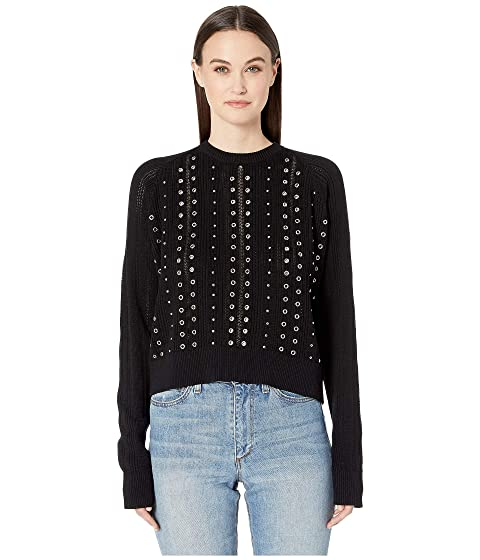 The Kooples Eyelets Lightweight Sweater