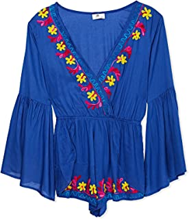 South Beach Beach Dress for Women - Blue, BLUE, Large