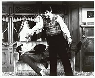 Wild Wild West Robert Conrad & Ross Martin 8x10 Photo with Bob pouring water on Ross