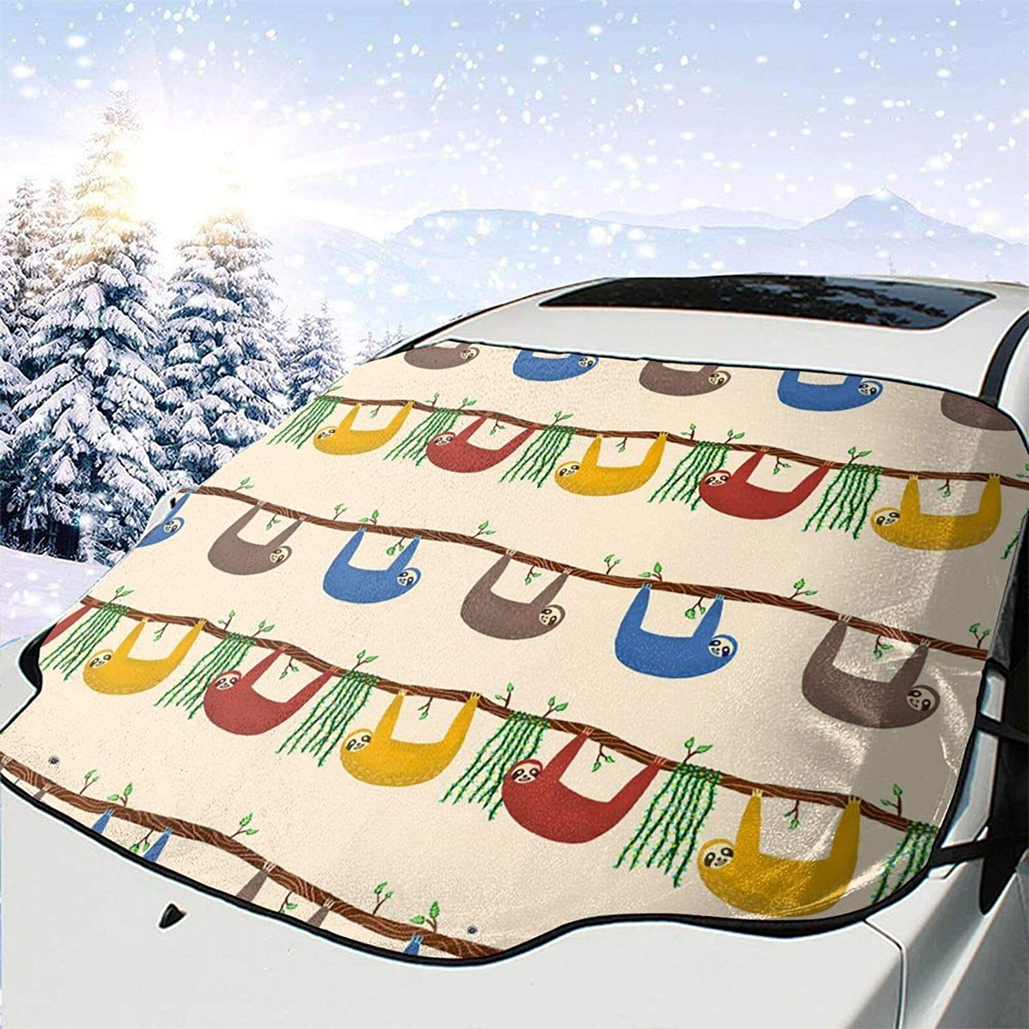 Car Front Window Safety and trust Windshields Snow Colored-Sloth Cover Guard Luxury goods Heat