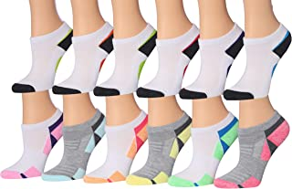 Tipi Toe Kids Girls 12 Pairs Low Cut Athletic Sport Peformance Socks