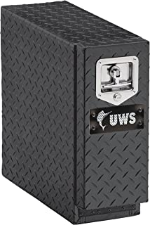 UWS EC20052 22-Inch Gloss Black Heavy-Wall Aluminum Truck Bed Tool Box with 5 Drawers, RigidCore Lid