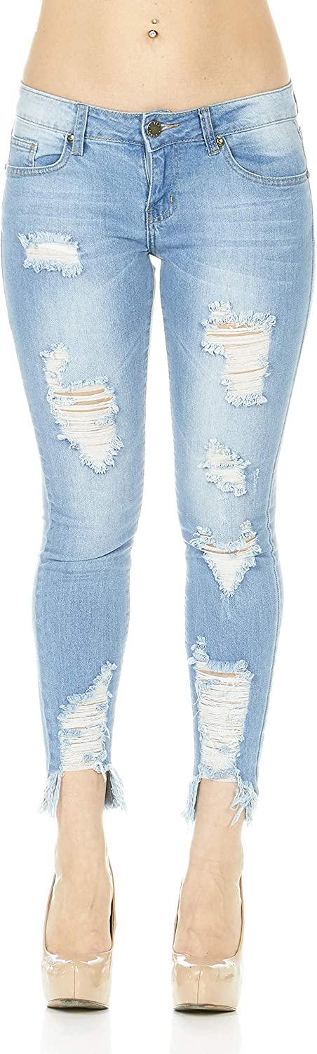 COVER GIRL Women's Distressed Jeans [Alternative dealer] Manufacturer OFFicial shop Ripped Skinny