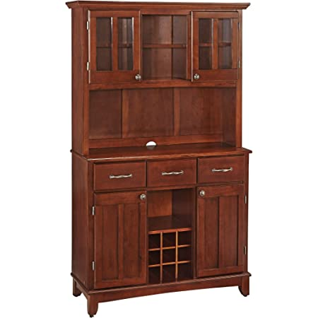 Amazon Com Buffet Of Buffets Cottage Oak With Wood Top By Home Styles Large Server With Cottage Oak Wood Top Buffets Sideboards