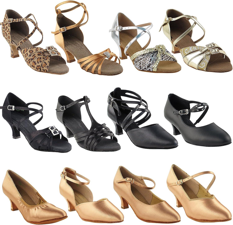 50 Shades of Medium Slim Heel Dance Dress Shoes: Ballroom Latin Salsa Practice (2