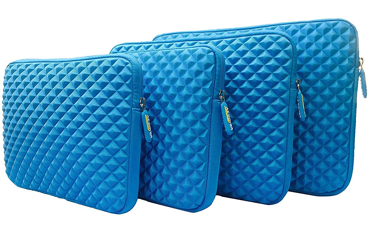 AZ-Cover 10.1-Inch Simplicity Stylish Diamond Foam Shock-Resistant Neoprene Sleeve (Blue) For 10.1