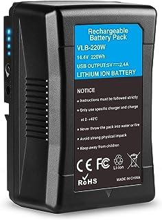 KUNLUN V Mount/V Lock Battery 15000mAh 14.4V 220Wh Compatible with Sony Video Digital Camcorders Broadcast HDCAM XDCAM LED Light ARRI Cameras Replacement Brick for DSLR