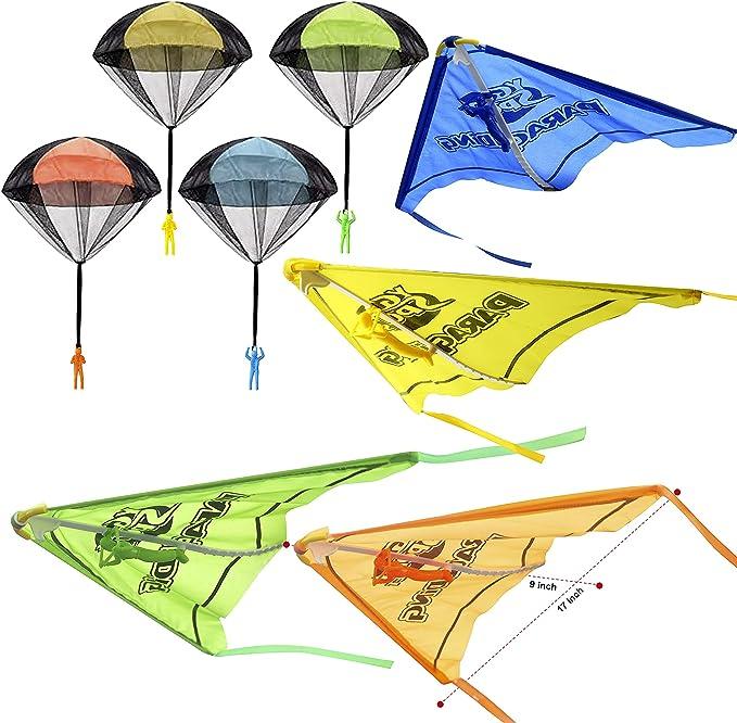 209 opinioni per JOYIN- Set di 8 giocattoli 2 in 1 per aliante e paracadute, con statuette, senza