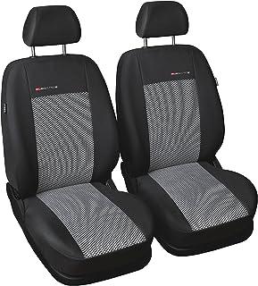 gsmarkt | Universal Front Grau | Sitzbezüge Sitzbezug für Auto Sitzschoner Set Schonbezüge Autositz Autositzbezüge Sitzauflagen Sitzschutz Elegance