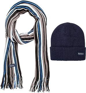 Ben Sherman Men's Winter Hat Set - Beanie and Scarf