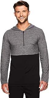 Gaiam Men's 1/4 Zip Up Activewear Pullover Hoodie - Long Sleeve Running & Yoga Sweater
