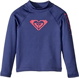 Roxy Kids Whole Hearted Long Sleeve Rashguard (Toddler/Little Kids/Big Kids)