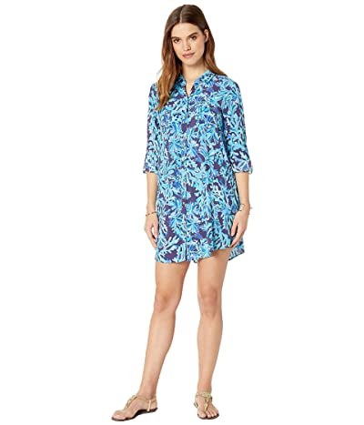 Lilly Pulitzer Natalie Cover-Up (Bright Navy in Too Deep) Women