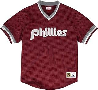 744657e87 Mitchell   Ness Philadelphia Phillies MLB Men s Dinger Mesh Jersey Shirt -  Red