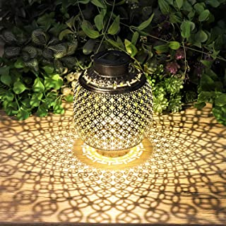 Solar Lanterns Outdoor Hanging, Solar Lights Outdoor Decorative for Garden Patio Yard Lawn and Tabletop 6.3x6.3x11.6