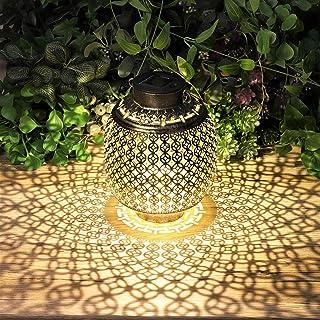 مصابيح شمسية معلقة في الهواء الطلق، أضواء شمسية في الهواء الطلق ديكور للحديقة الفناء حديقة سطح الطاولة 6.3 × 6.3 × 11.6