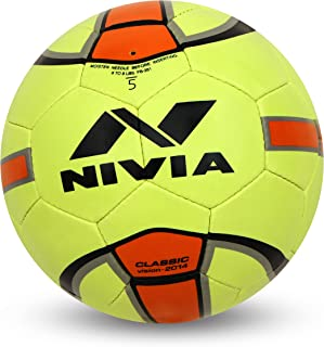 Nivia Classic Rubber Football, Size 5 (Yellow/Orange)