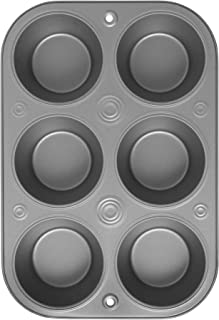 OvenStuff Non-Stick 6 Cup Jumbo Muffin Pan - American-Made, Non-Stick Baking Pans, Easy to Clean and Perfect for Making Ju...