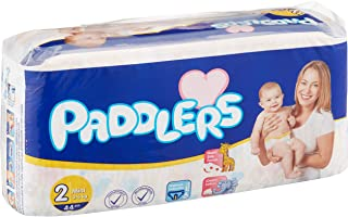Paddlers Mini 2 Beden 176 Adet (3-6 Kg) Aylık Paket Bebek Bezi, Beyaz